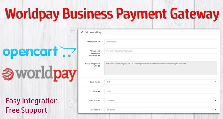 Worldpay Business Payment Gateway for OpenCart 3.x.x.x