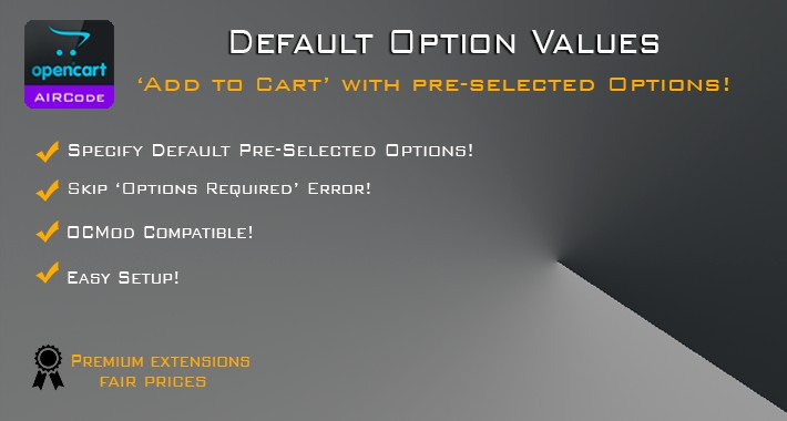Default Option Values