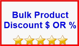 Bulk Product Discount $ OR %
