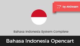 Bahasa Indonesia Opencart