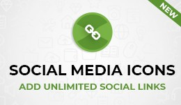 Social Media Icons / Custom quick links