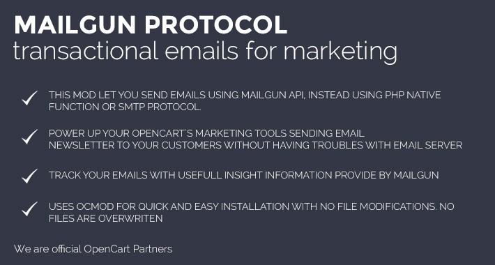 Mailgun Protocol for Marketing. Transactional Emails