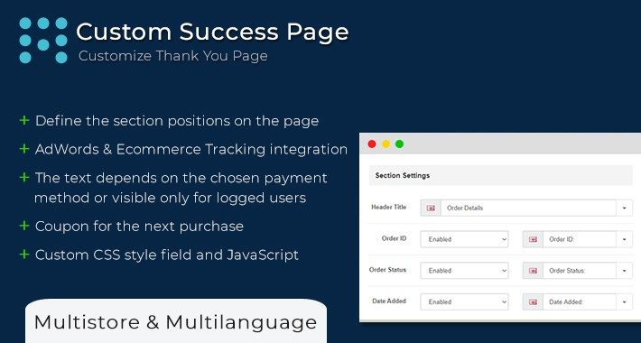 Edit Success Page | Custom Success Page