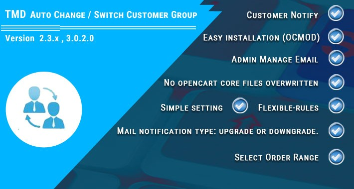 Auto Change / Switch Customer Group