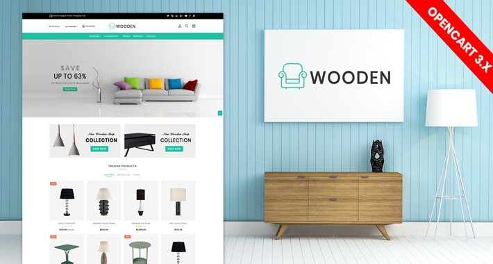 wooden furniture opencart 3.0.3.2 theme
