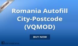 Opencart Romania Autofill City-Postcode (VQMOD)
