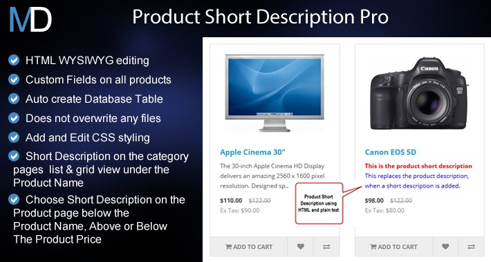 Product Short Description Pro + Additional Fields