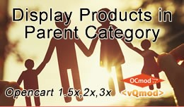 Opencart Display Sub-category Products in Parent..