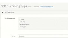 Restrict  (cash on delivery) COD for customer gr..