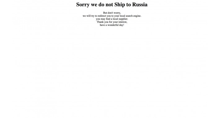 We Do Not Ship To Your Country