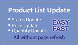 Admin Product Quantity, Price and Status change ..
