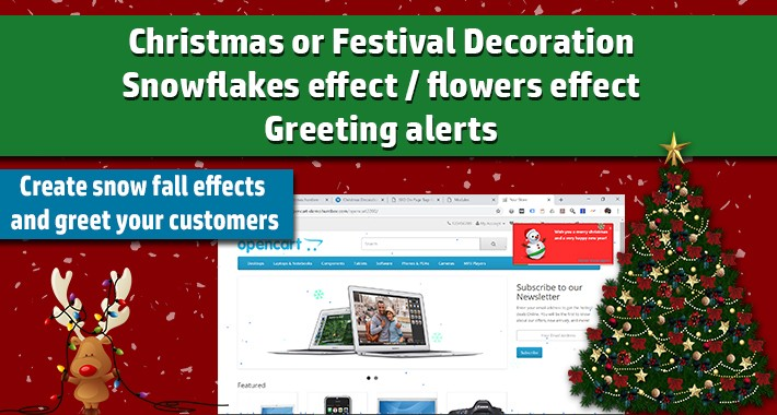 Christmas Decoration Module / Snow Effect / Greeting Alert