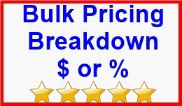 Bulk Pricing Breakdown $ or %