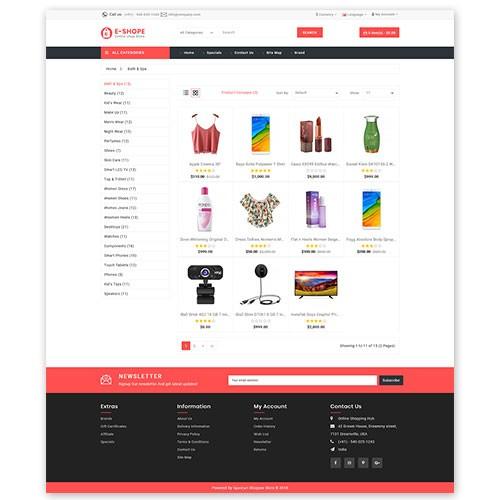 OpenCart - E-shope opencart 3 x website Theme (Free
