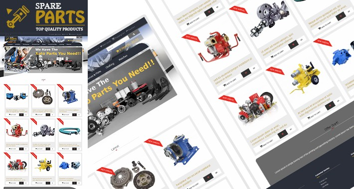 SaaSparts - Motor Parts Selling Multipurpose Responsive Theme