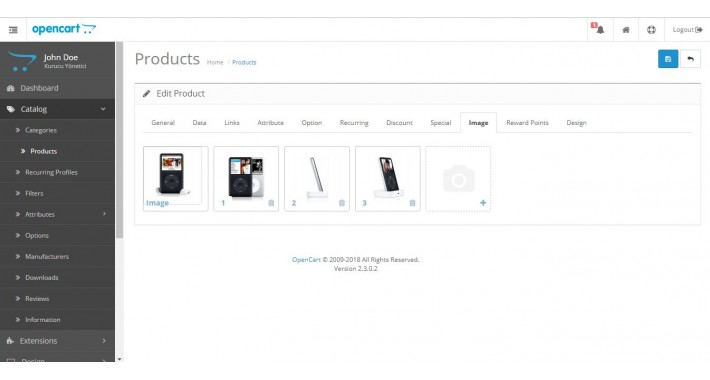 Sortable Multiple Product Images Upload for OpenCart