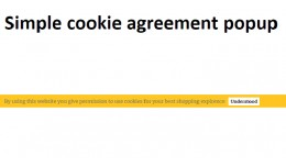 Simple cookie agreement module