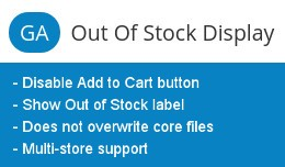 GA Out of Stock Display