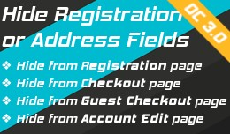 Hide Registration fields - OC3