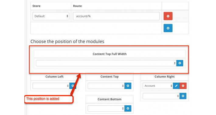 Add new module position (Top Full width) in layout