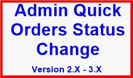 Admin Quick Orders Status Change