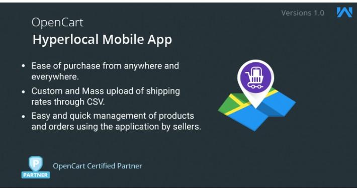 Opencart Hyperlocal Mobile App