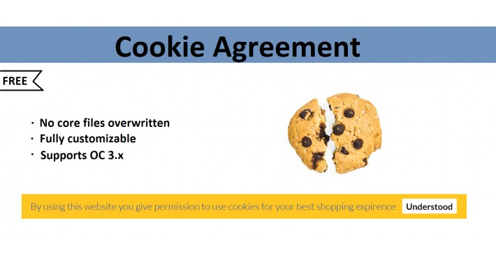 Cookie agreement module