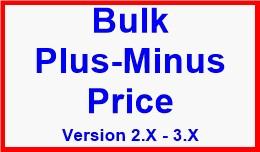 Bulk Plus-Minus Price