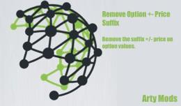 Remove Option +- Price Suffix