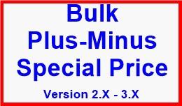 Bulk Plus-Minus Special Price