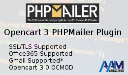 PHPMailer 6 plugin for Opencart 3 (SMTP Office36..
