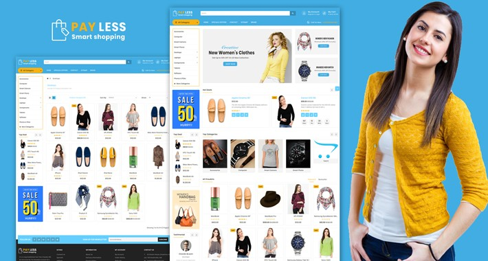Payless opencart 3 theme (shopping, cosmetics, multishop)