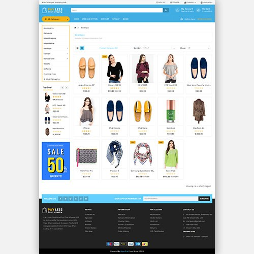 OpenCart - Payless opencart 3 theme (shopping, cosmetics