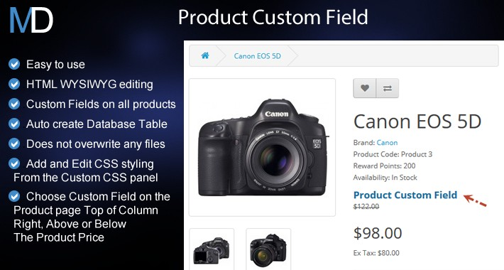 Product Custom Field