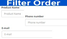 Filter Orders by email, product name, telephone