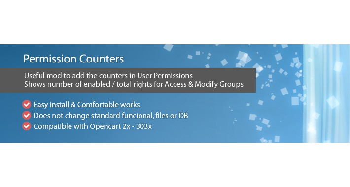 Permission Counters - displays number of enabled/total rights