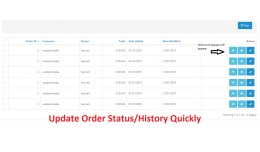 Order History Update Quickly