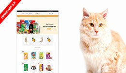 Petstore opencart 3 theme (Pet Food, Animal, pet..
