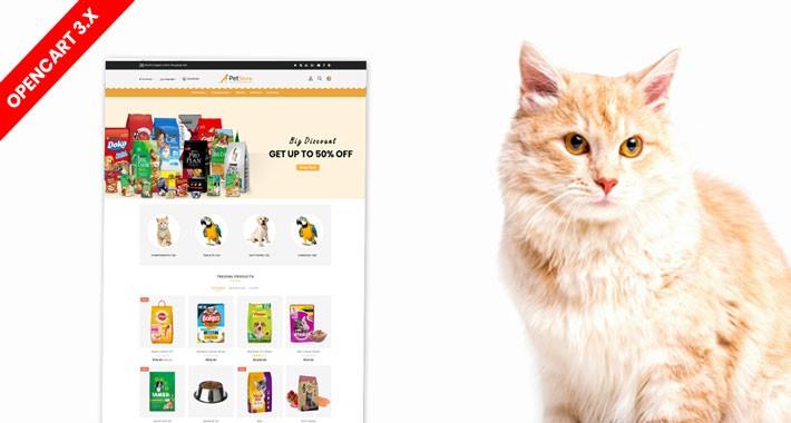 Petstore opencart 3 theme (Pet Food, Animal, pet shop)
