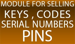 Module for selling keys, codes, serial numbers