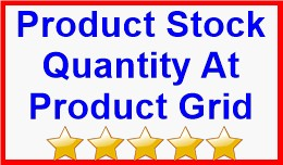 Product Stock Quantity At Product Grid