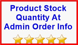 Product Stock Quantity At Admin Order Info