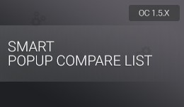 Smart Popup Compare List