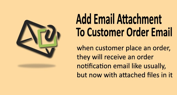 Add Attachment Files for Customer Order Email