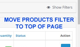 Admin Product Filter to Top Page with Load More