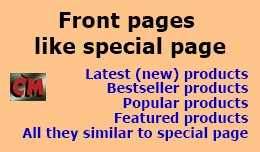 Como Pages - product pages like special page, mo..