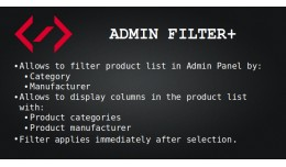 Admin Filter+ (Filter products by Category and M..