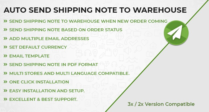 Auto Send Shipping Note to Warehouses