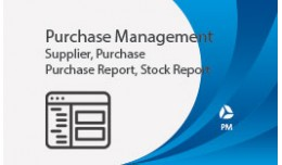 Purchase Management , Supplier, Purchase, Stock,..