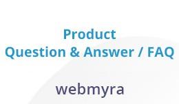 WebMyra: Product Question & Answer / FAQ